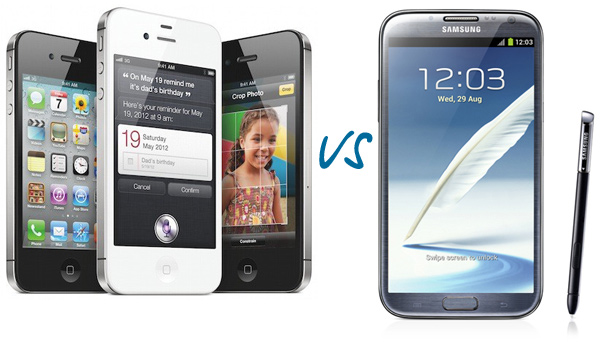 Samsung Galaxy Note 2 vs Apple iPhone 4S