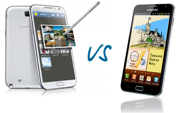 Сравнение Samsung Galaxy Note 2 vs Galaxy Note